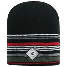 "Nwt Top of the Worldâ""¢ Adult Knitted Striped Acrylic Wsu Cougars Fan Cap"