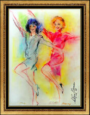 LeRoy Neiman RARE Original Pastel Painting The Rockettes Signed Female Artwork