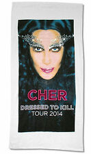 CHER DRESSED TO KILL 2014 TOUR WHITE BEACH TOWEL NEW OFFICIAL 60X30 COLLECTIBLE