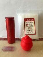 "Redytek 30mm Round Rosin Pre-Press Mold, 50 Pack - 2""x4.75"" 190u Filter Bags🇺🇸"