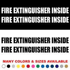 Set of 2 Fire Extinguisher Inside Truck Decal Sticker Commercial Van Pick up v1
