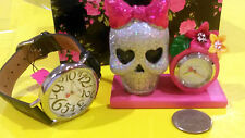 #2 Betsey Johnson Watch Big numbers Kit  with  Skull Set   NIB NWT