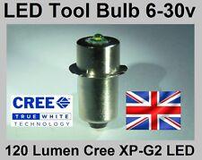 De 6 a 30V bombilla LED para 9.6, 12, 14.4, 18 y 24 voltios Makita, Bosch, Dewalt antorchas