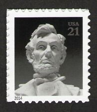 US. 4860. 21c.  Abraham Lincoln memorial Status. with Die Cut. MNH. 2014