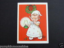 #H81- Unused Eva Harta 1946 Ars Sacra Xmas Greeting Card Toddler in Pajamas