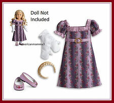"""American Girl CAROLINE HOLIDAY GOWN  Purple Christmas Outfit for 18"""" Dolls NEW"""