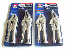 4pc MINI VISE LOCKING GRIP PLIERS SET NEIKO TOOLS USA