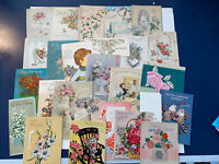 Vintage Wedding Greeting Cards 25 Used-  Ephemera Scrapbooking Crafts- 1950 & Up