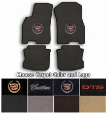 Cadillac DTS 4pc Classic Loop Carpet Floor Mats-Choice of Carpet Color & Logo