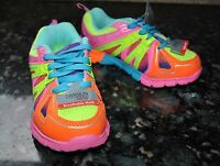 New DANSKIN NOW Athletic Girl LIGHTWEIGHT Running Shoes size 3 Multi color