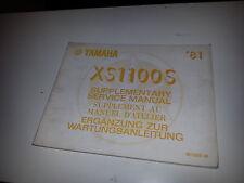 suplement   manuel  atelier  XS1100S  81