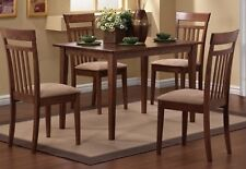 Dining Room Sets For Small Spaces Room 5 Piece Hardwood Table 4 Chairs Cushioned