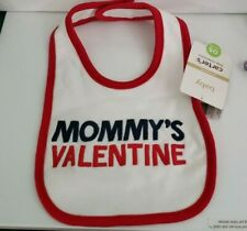 "New listing Carter's Baby Valentine's Day ""Mommy'S Valentine"" Bib One Size"