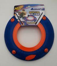 Nerf Dog Whistler Whistling Flyer Disc Plastic Blue Orange