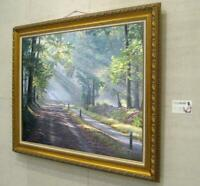 "Hand painted Original Oil Painting art Landscape Forest path on canvas 30""x40"""