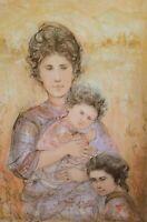 Edna Hibel (1917-2014) TATYANA'S FAMILY Ltd Ed Lithograph Hand Signed W/COA.
