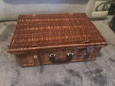4 Person Wicker Picnic Basket Hamper Set
