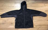 Packable Mens Columbia Grey / Black Waterproof Jacket Hooded Baggy Size - XL