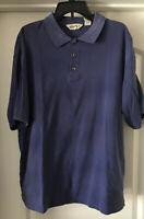 EUC Eddie Bauer Men's Short Sleeve Blue Casual Polo Golf Shirt Size XL