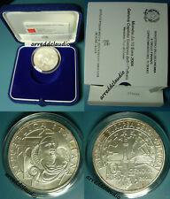 ITALIA 2004 GENOVA CAPITALE EUROPEA DELLA CULTURA 10 EURO  ARGENTO - FDC