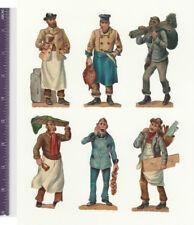 Viktorianische Diecuts, 1890's, Berufe, Set mit 23 Berufe (P1)