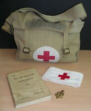WW-II era Royal Army Medical Corps NCO's Field Shell-Dressing Bag & Contents...