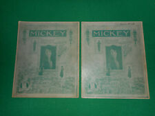 Mickey 1918 silent film Mabel Normand sheet music 2 for the price of one