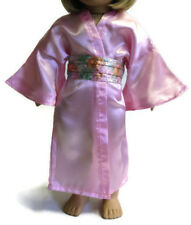 Pink Satin 2 piece Kimono Geisha made for 18 inch American Girl Doll Clothes