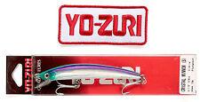 Original Yo-Zuri's 90mm F9-C60 Crystal Minnow Sinking Lure with iron-on patch