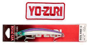 Crystal Minnow Sinking Lure Original Yo-Zuri's 90mm F9-C60 with iron-on patch
