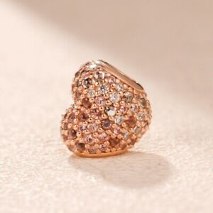 Genuine PANDORA Rose Gleaming Ladybird Heart Charm - 787894NPOMX