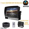 7'' 1080P HD CCTV Monitor Rear View AHD Reverse Backup Camera For Truck Van RV