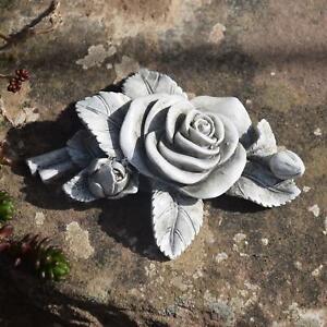 Grabschmuck Rose Grabdeko Gedenkstein 10 cm