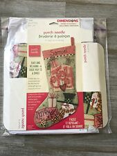 "Punch Needle Joy 15"" Stocking Christmas Kit Dimensions 73243"
