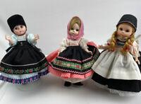 Madame Alexander dolls Lot of 3 International Yugoslavia Rumania Switzerland