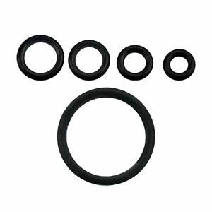 ❤ Gummiring O-Ring Sixpack (6 St.) Ersatz Plug Tunnel Pincher Gummi Schwarz Ring