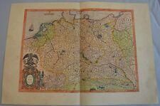 1 Seite Faksimile aus dem Geradus Mercator Atlas Germania-Coron-Brockhaus-LEX
