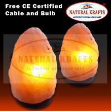 2 x HIMALAYAN PINK SALT ROCK CRYSTAL LAMP 2-3KG NATURAL HEALING IONIZING LAMPS