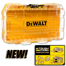 NEW MODEL-Connectible DeWalt Drill Bit TOUGH Case; Accepts All DeWalt Bit Racks