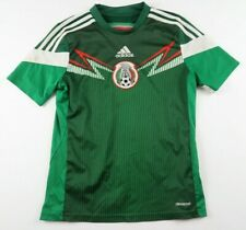 Mexico Soccer Futbol Boys Girls Clima Cool SS Green Jersey Adidas Youth Large
