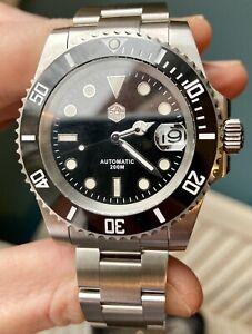 San Martin Water Ghost v3 Black - Submariner Homage - Dive watch - UK seller