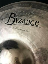 "Meinl 22"" Byzance Heavy Hammered Ride Brilliant Finish"