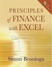 Principles of Finance with Excel: Includes CD, Simon Benninga, Very Good Book