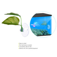 Artificial Plant Leaf Betta Hammock Fish Rest Bed Aquariums Supply 2 Leaves Pop