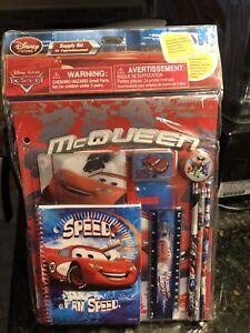 Pixar Lightning Mcqueen School Supply Kit Cars Disney Store Stationary Set