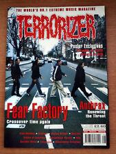 Terrorizer Magazine Issue 57 Fear Factory Anthrax Iron Monkey Ozzfest Cradle of
