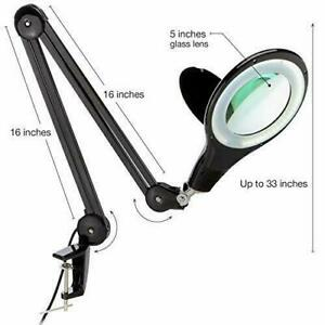 Brightech LightView PRO LED 2.25x Magnifying Glass Desk Lamp in Box for Grading