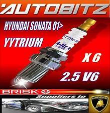 FITS HYUNDAI SONATA 2.5 BRISK SPARK PLUG X6 100K GUARANTEE YYTRIUM FAST DISPATCH