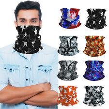 3 Pcs Multi-use Tube Scarf Bandana Head Face Mask Neck Gaiter Head Wear US STOCK
