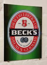 Becks Larger Retro metal Aluminium Sign vintage bar pub man cave beer signs shed